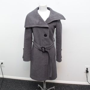 Soia & Kyo Trench Coat XS  Gray Wool Blend